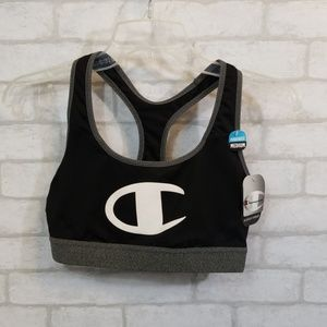 Champion performance black/gray sport bra size M